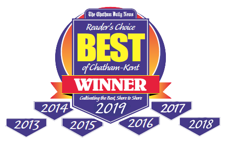 Chatham Daily News Best of Chatham Kent Reader's Choice 2013-2019